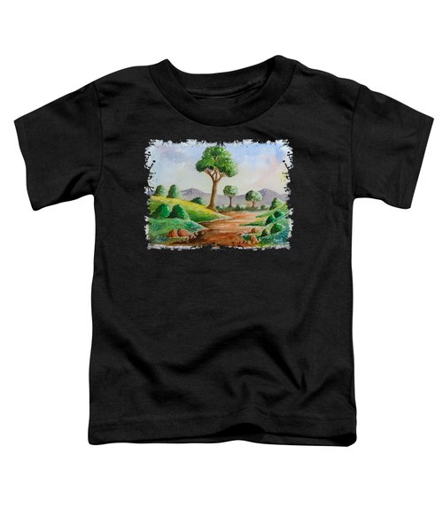 Trees And Flowers Toddler T-Shirt