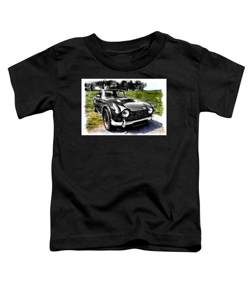 Triumph Tr5 Monochrome With Brushstrokes Toddler T-Shirt