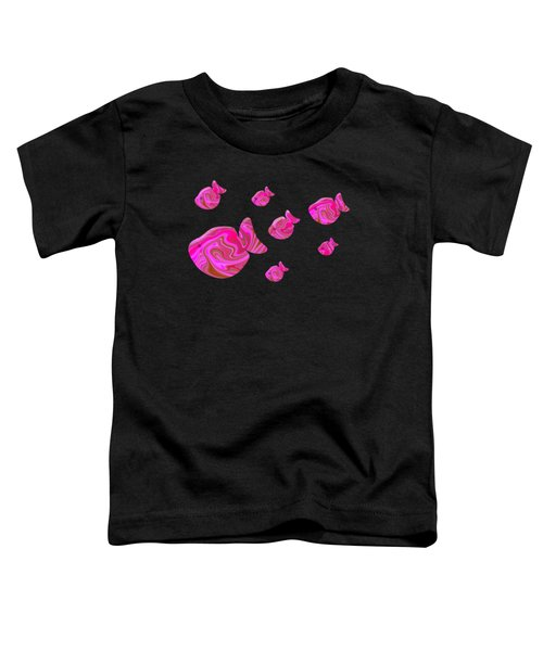 Tropical Fish In Pink Psychedelic Pattern Toddler T-Shirt
