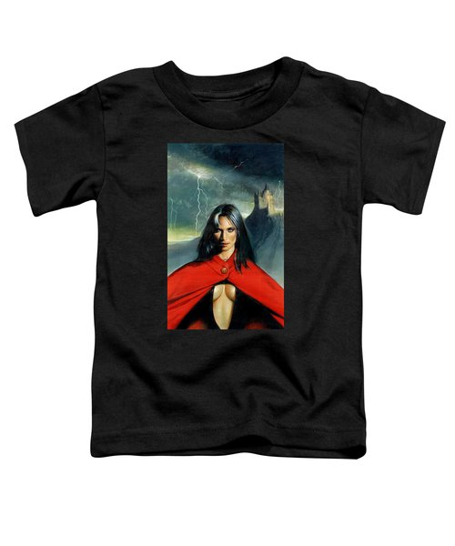 Vampire And Red Cloak Toddler T-Shirt