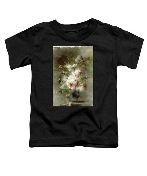Vase With Roses, 19th Century Toddler T-Shirt