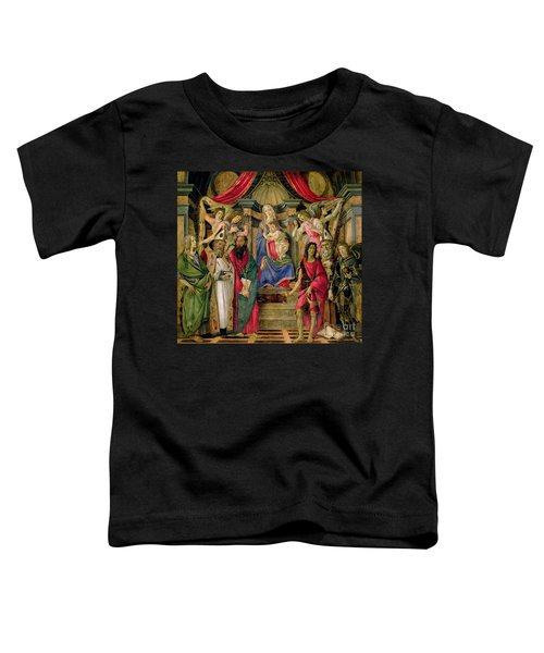 Virgin And Child With Saints From The Altarpiece Of San Barnabas, Toddler T-Shirt