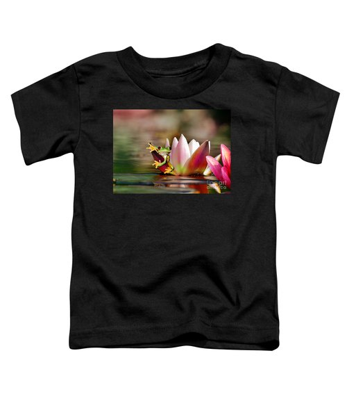 Water Lily And Frog Toddler T-Shirt