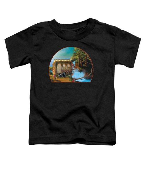 Water Wheel Overlay Toddler T-Shirt