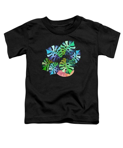 Watercolor Monstera Or One Fine Swiss Cheese Plant Toddler T-Shirt