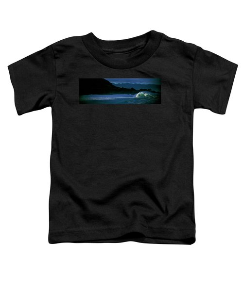 Waves In The Pacific Ocean, Waimea Bay Toddler T-Shirt