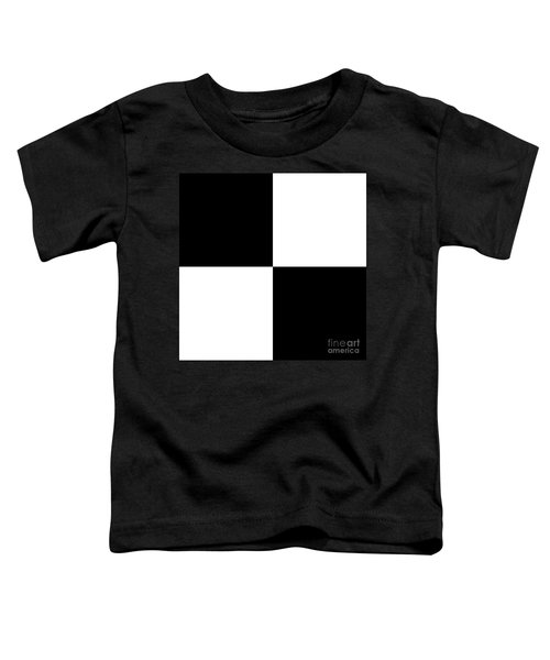 White And Black Squares - Ddh586 Toddler T-Shirt