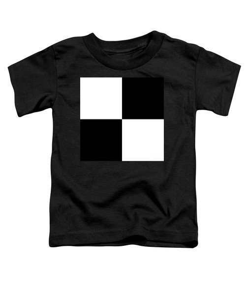White And Black Squares - Ddh588 Toddler T-Shirt