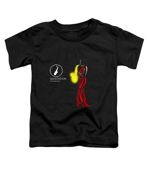 Woman In Red Playing Sax Toddler T-Shirt