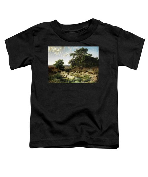 Wooded Landscape With Watercourse And Staffage Figures Toddler T-Shirt