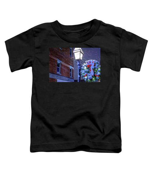Wreath On A Lamp Post Toddler T-Shirt