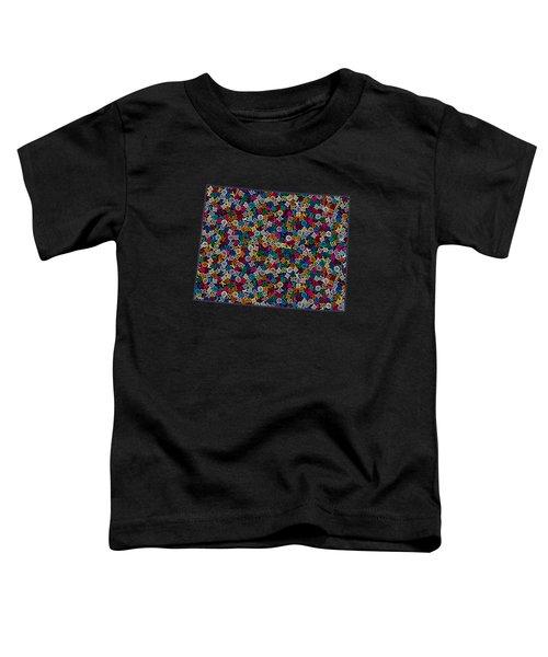 Wyoming Map - 2 Toddler T-Shirt