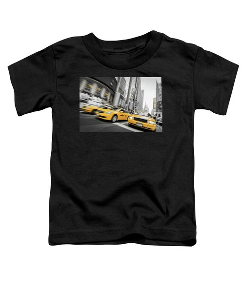 Yellow Cabs In New York Toddler T-Shirt