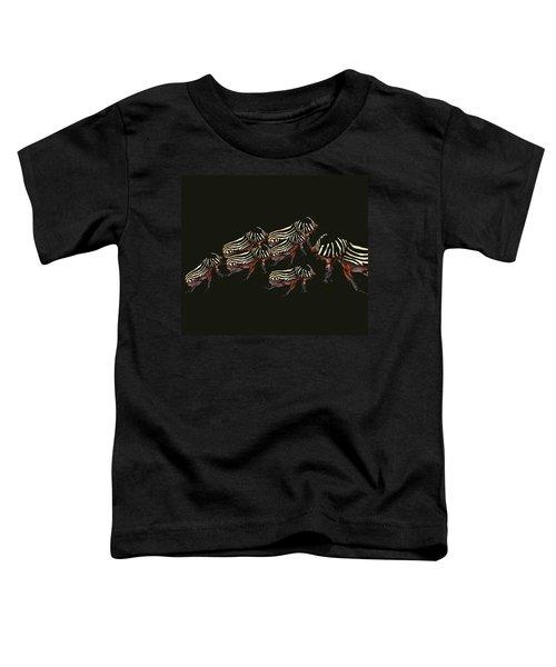 Zebra Pattern Rhinoceros Beetle 3 Toddler T-Shirt