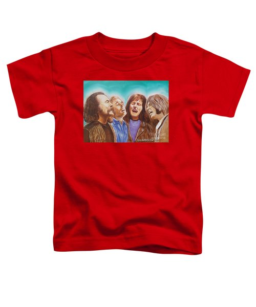 Crosby Stills Nash And Young Toddler T-Shirt by Kean Butterfield