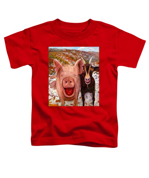 Pig And Goat Toddler T-Shirt