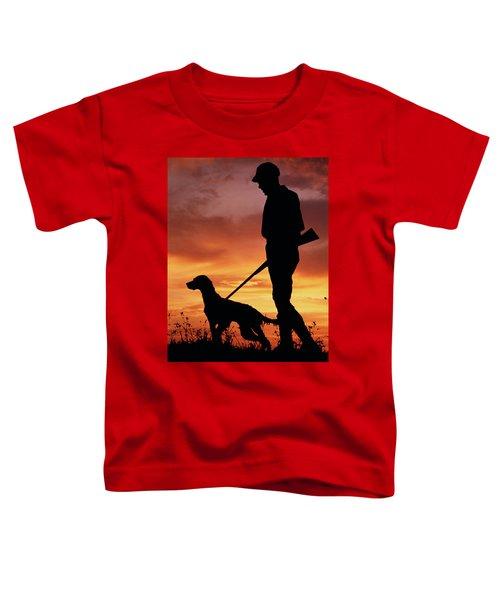 1960s Silhouette Of Man Hunter Toddler T-Shirt