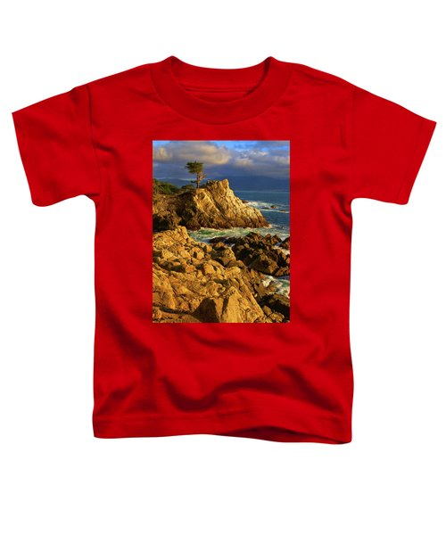Lone Cypress On The Coast, Pebble Toddler T-Shirt