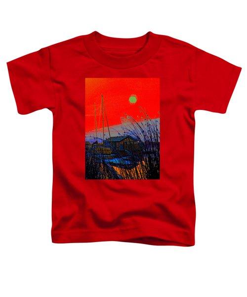 A Digital Marina Sunset Toddler T-Shirt