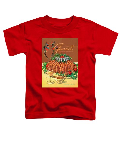 A Gourmet Cover Of Chicken Toddler T-Shirt by Henry Stahlhut