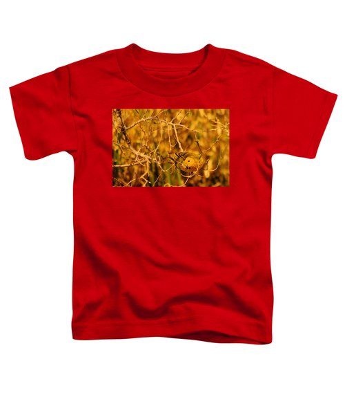 A Yellow Bird Posing Toddler T-Shirt