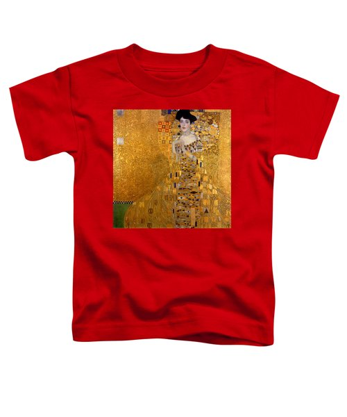 Adele Bloch Bauers Portrait Toddler T-Shirt by Gustive Klimt