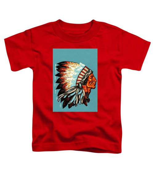 American Indian Chief Profile Toddler T-Shirt