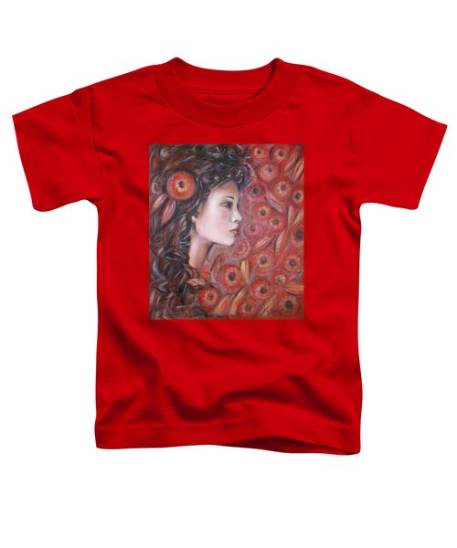 Asian Dream In Red Flowers 010809 Toddler T-Shirt
