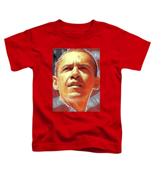 Barack Obama Portrait - American President 2008-2016 Toddler T-Shirt