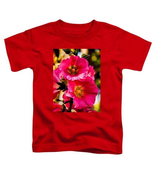Beautiful Pink Hollyhock Toddler T-Shirt