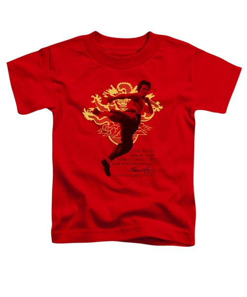 Bruce Lee - Immortal Dragon Toddler T-Shirt by Brand A