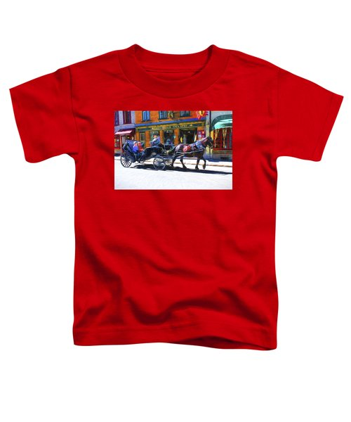 Carriage Rides In Old Quebec 9 Toddler T-Shirt