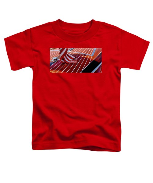 Chris Craft With American Flag Toddler T-Shirt