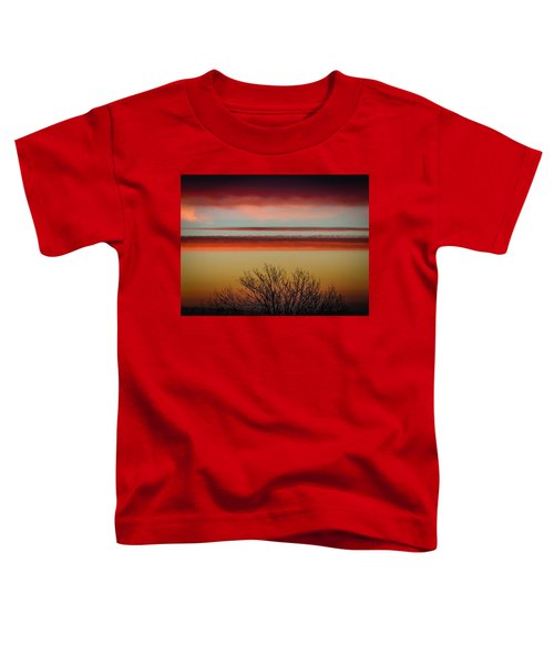 Toddler T-Shirt featuring the photograph Crimson Clouds At Sunrise by James Truett
