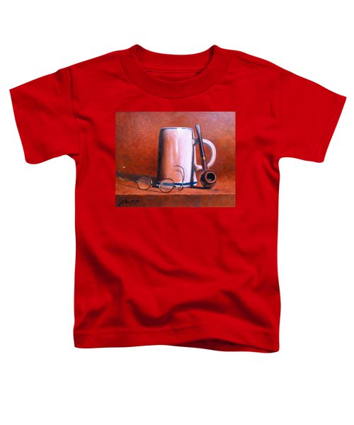 Cup Pipe And Glasses Toddler T-Shirt