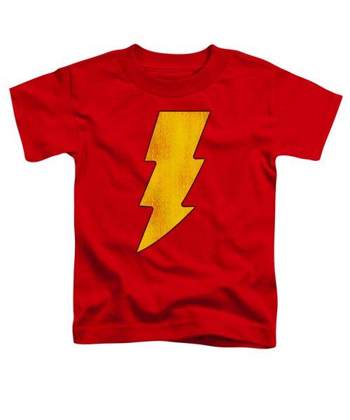 Dc - Shazam Logo Distressed Toddler T-Shirt