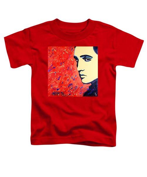 Elvis Presley - Red Blue Drip Toddler T-Shirt