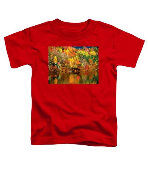 Flaming Autumn Abstract Toddler T-Shirt