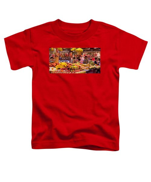 Fruits At Market Stalls, La Boqueria Toddler T-Shirt by Panoramic Images