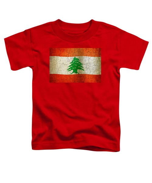 Grunge Lebanon Flag Toddler T-Shirt