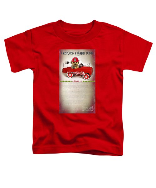 I Rescued A Human Today Toddler T-Shirt