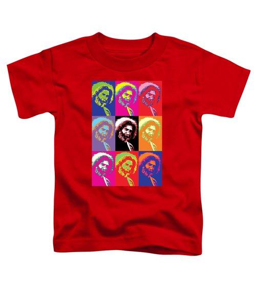 Jerry Garcia Pop Art Collage Toddler T-Shirt