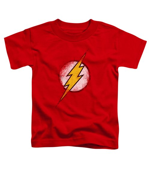 Jla - Destroyed Flash Logo Toddler T-Shirt
