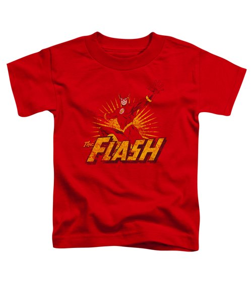 Jla - Flash Rough Distress Toddler T-Shirt