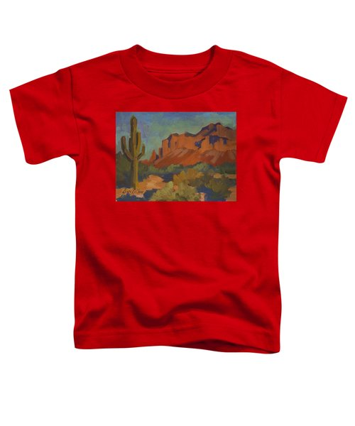 Late Afternoon Light At Superstition Mountain Toddler T-Shirt