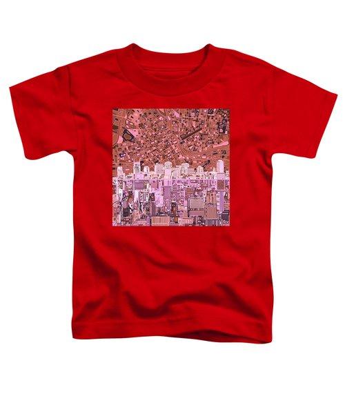 Nashville Skyline Abstract 7 Toddler T-Shirt