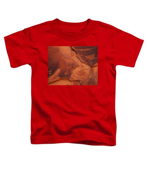 Petroglyphs On The Rocks, Monument Toddler T-Shirt