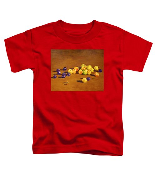 Plums And Apples Still Life Toddler T-Shirt