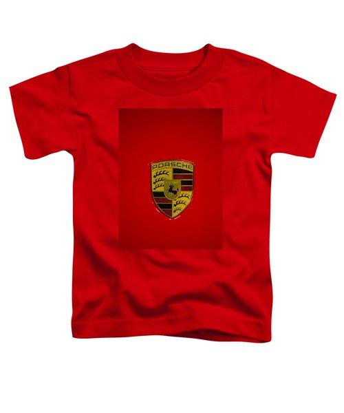 Porsche Emblem Red Hood Toddler T-Shirt
