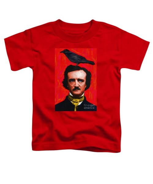 Quoth The Raven Nevermore - Edgar Allan Poe - Painterly - Red - Standard Size Toddler T-Shirt